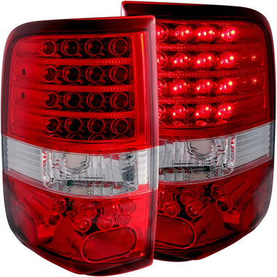 Anzo LED Tail Lights Ford F150 (2004-2008) Red/Smoke/Black/Chrome