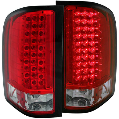 Anzo LED Tail Lights Chevy Silverado 1500 (07-13) 2500HD/3500HD (07-14) Red/Chrome/Black/Smoke