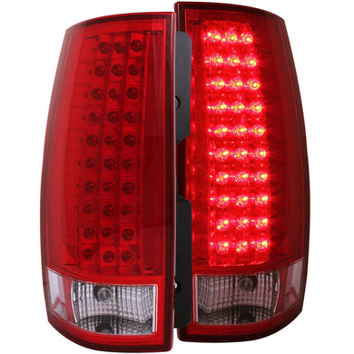 Anzo LED Tail Lights Chevy Suburban / Tahoe (2007-2013) Red/Chrome/Black/Smoke