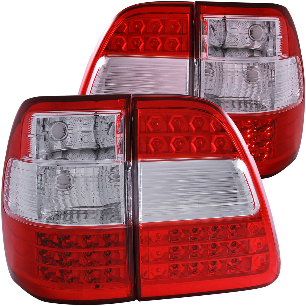 Anzo LED Tail Lights Toyota Land Cruiser FJ100 (1998-2005) Red Clear
