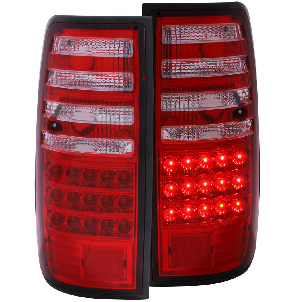 Anzo LED Tail Lights Toyota Land Cruiser FJ82 (1991-1997) Red Clear