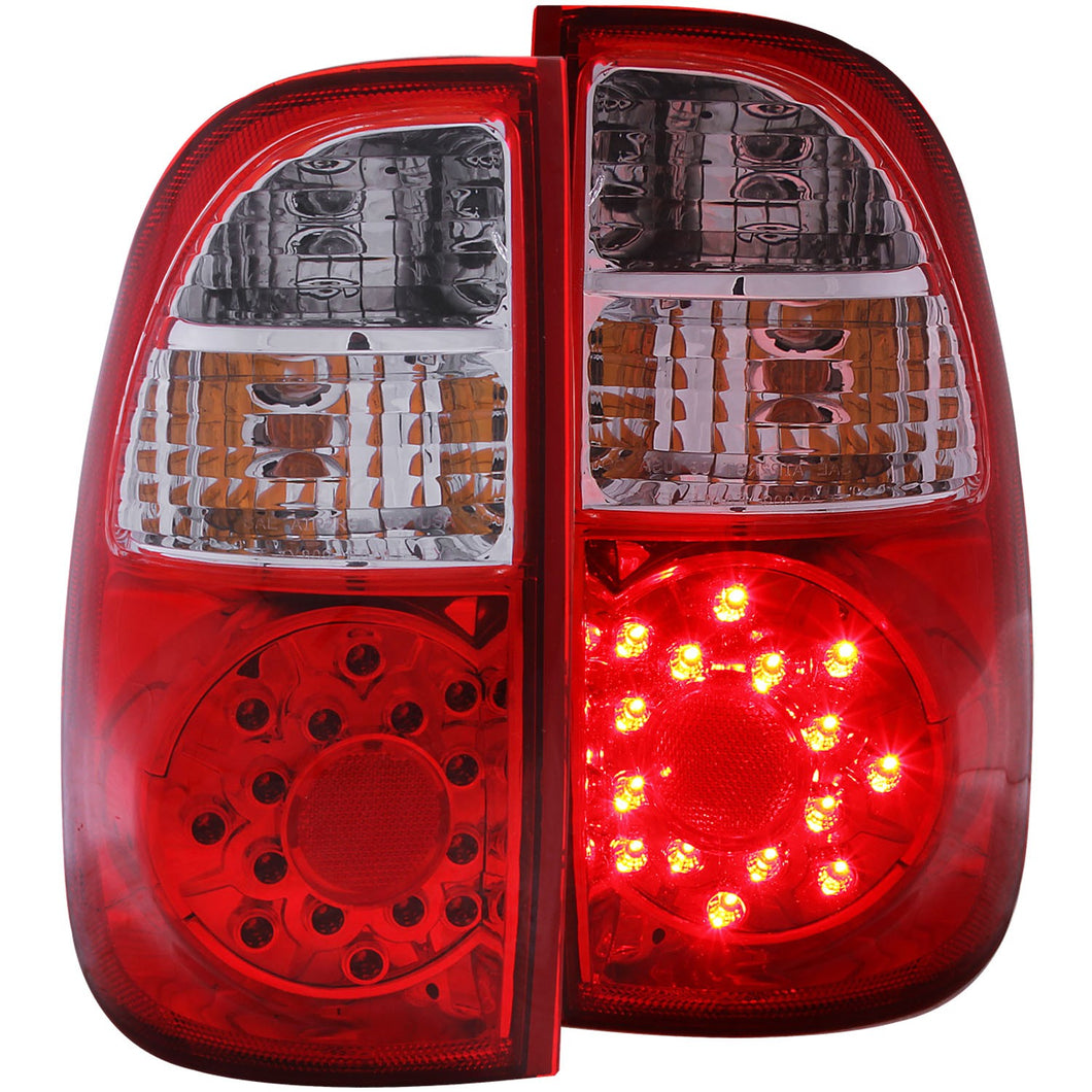 Anzo LED Tail Lights Toyota Tundra Regular & Access cab (00-06) Red Clear