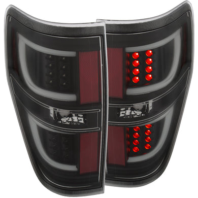 Anzo LED Tail Lights Ford F150 [G2 Lights] (2009-2014) Red/Smoke/Black/Chrome