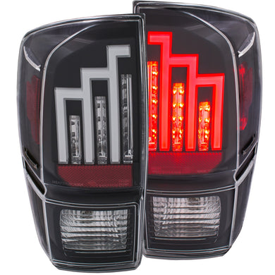 Anzo LED Tail Lights Toyota Tacoma (2016-2019) Red/Black/Chrome/Smoke