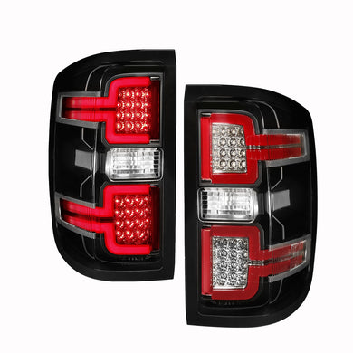 Anzo LED Tail Lights Chevy Silverado [Sequential Signal] (14-18) Red/Smoke/Black/Chrome