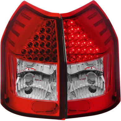 Anzo LED Tail Lights Dodge Magnum (2005-2008) Red/Chrome/Black/Smoke