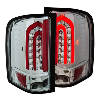 Anzo LED Tail Lights Chevy Silverado 1500/2500/3500 (2007-2013) G4 All Chrome