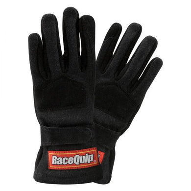 RaceQuip 355 Series 2 Layer Nomex Race Youth / Jr  Gloves [SFI 3.3/5] - Black