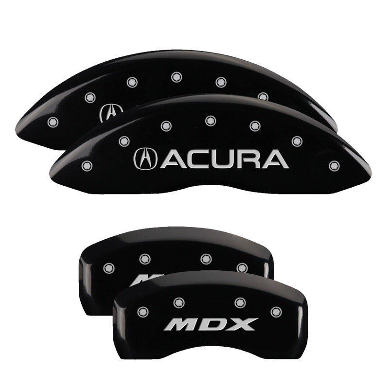 Brake Covers for 2017-2019 Acura MDX MGP Caliper Covers 39021SMDXRD Red Powder Coat Finish Set of 4