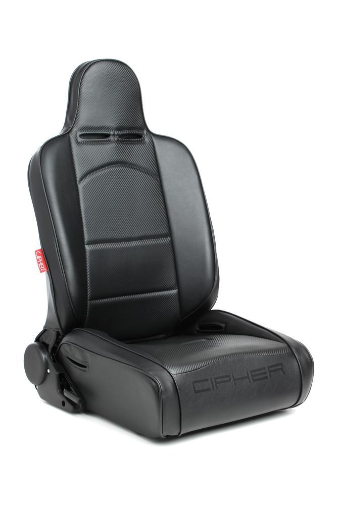 Cipher Auto Black Synthetic Leather Racing Seats (Reclining - Pair) CPA3002PBK
