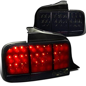 Spec-D Tail Lights Ford Mustang [Sequential LED] (05-09) Black / Chrome / Red