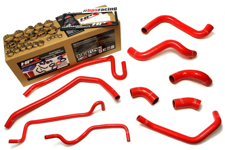 HPS Silicone Radiator + Heater Hoses Ford Mustang GT 5.0L V8 & Boss 302 (11-14) Red / Blue / Black