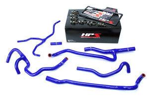 HPS Silicone Radiator + Heater Hoses Chevy Camaro SS Coupe 6.2L V8 (16-17) Red / Blue / Black