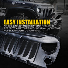 Load image into Gallery viewer, Xprite Beast Grill Jeep Wrangler JK (07-18) w Removable Steel Mesh