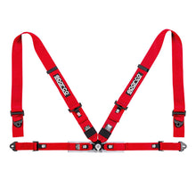 "Load image into Gallery viewer, SPARCO Competition Harness 3"" 4 Points [FIA] Blue / Red / Black"