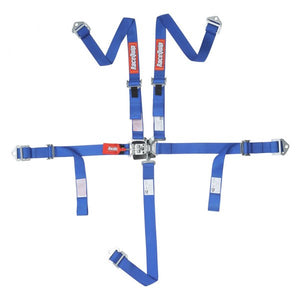 RaceQuip Youth Latch & Link SFi 16.2 [5 Point] Racing Harness Set - Black/Red/ Blue/Purple/Pink