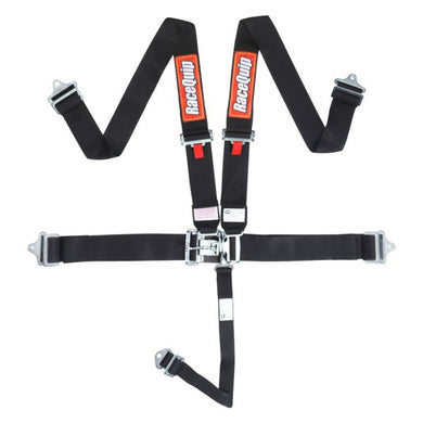RaceQuip Latch And Link SFi 16.1 [5 Point Pull Down] Seat Belt & Harness Sets - Black/Red/Blue / Yellow/Orange/Purple/Platinum/Green/Pink