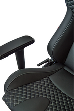 Load image into Gallery viewer, Cipher Office / Gaming Chair [RS Racing Style / Black] Leatherette Carbon Fiber w/ Diamond Stitch