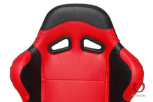 Load image into Gallery viewer, Cipher Auto Leatherette Seats (Black/Red/Carbon Fiber - Sold as a Pair - Reclining) CPA1003CFBKRD
