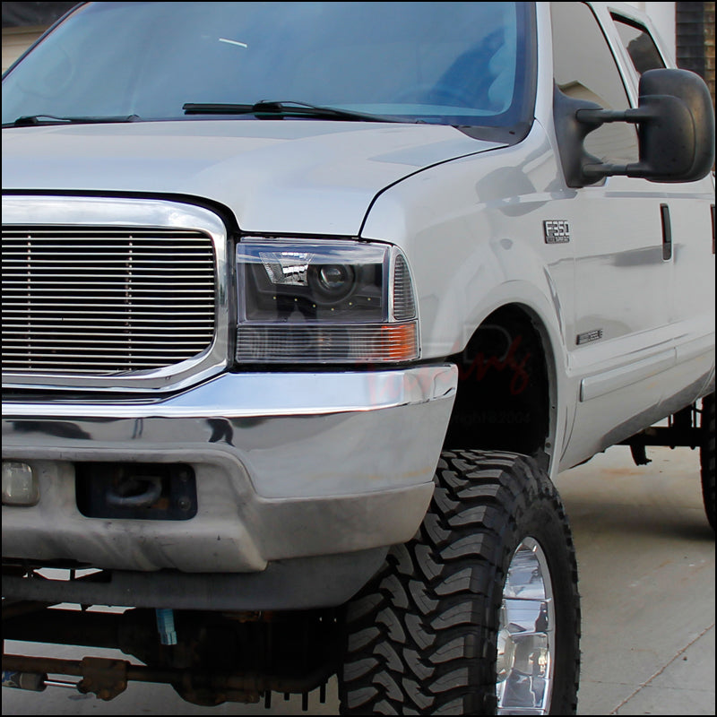 99 F350 Headlights >> Spec D Projector Headlights Ford F250 F350 F450 F550 Led 99 04 Black Or Chrome