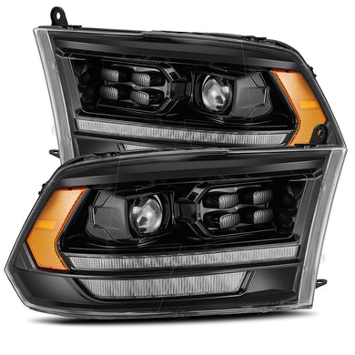 AlphaRex Dual LED Projector Headlights Ram 1500/2500/3500 [LUXX Series - Sequential Turn Signal] (06-08) Alpha-Black - 5th Gen 2500 Style