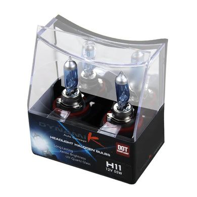 H11 Low Beam Halogen Headlight Bulbs (Pair) 4200k - 12V 55W