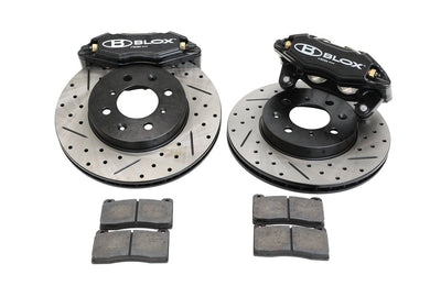BLOX Racing Big Brake Kit Honda Fit [Front - Drilled/Slotted] (07-13) BXBS-10501