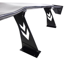 "Load image into Gallery viewer, NRG Carbon Fiber Spoiler / Wing (69"" x 15.25"") Arrow Cut Stands CARB-A691NRG"