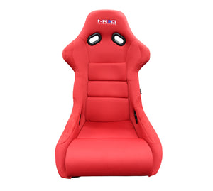 NRG Racing Seats (Large - Black/Red - Fiberglass Bucket) FRP-300