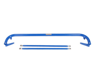 NRG Seat Belt Race Harness Bar Mazda Protege (2000-2004) Blue/Titanium