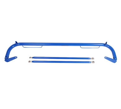NRG Seat Belt Race Harness Bar Nissan 240SX S13/S14 (89-98) Blue/Titanium