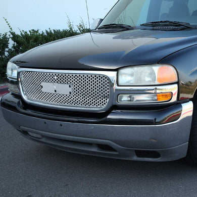 Spec-D Grill GMC Yukon (00-06) GMC Sierra (99-02) Mesh Gloss Black or Chrome