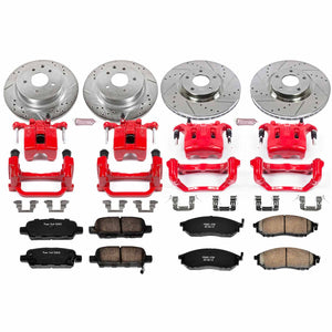 PowerStop Z23 Evolution Sport Brake Rotors + Pads + Caliper Nissan 350Z / 370Z (2009) Front or Rear