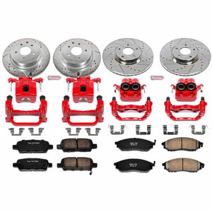 PowerStop Z23 Evolution Sport Brake Rotors + Pads + Caliper Nissan 350Z w/ 2 Piston Front Caliper (06-08) Front or Rear
