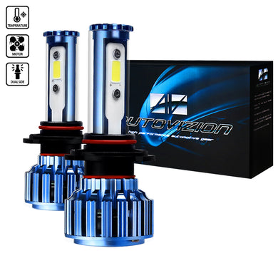 LED Headlight Bulbs (9006 - 6000K - Bright White) 20W or 30W - Pair