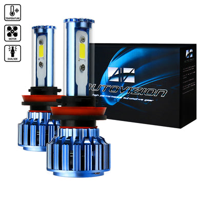 LED Headlight Bulbs (H11 - 6000K - Bright White) 20W or 30W - Pair