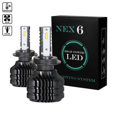 LED Headlight Bulbs (H7 - 6000K - 20W - Bright White) Pair