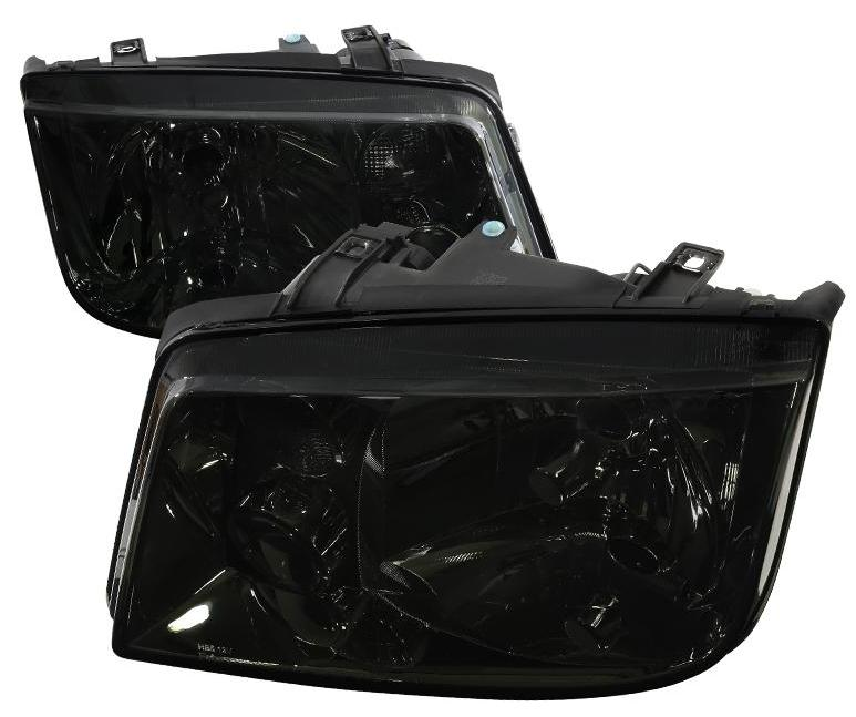 Spec-D OEM Replacement Headlights VW Jetta MK4 (99-04) Black / Smoke / Chrome
