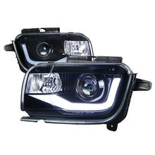 Load image into Gallery viewer, Spec-D Projector Headlights Chevy Camaro [LED DRL Neon] (2010-2013) Black / Chrome
