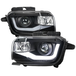 Spec-D Projector Headlights Chevy Camaro [LED DRL Neon] (2010-2013) Black / Chrome