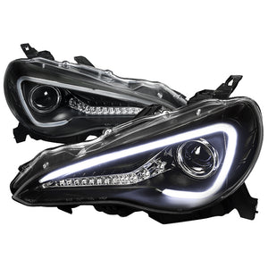 Spec-D Projector Headlights Scion FR-S [Sequential] (13-18) Gloss or Matte Black