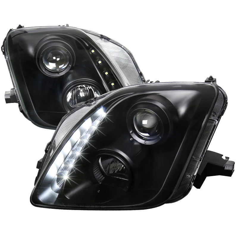 Spec-D Projector Headlights Honda Prelude [LED] (97-01) Black Housing