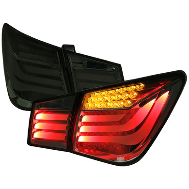 Spec-D LED Tail Lights Chevy Cruze (2011-2015) Smoked / Red