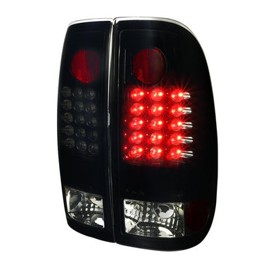 Spec-D Tail Lights Ford F250/F350/F450/F550/F650 [LED] (08-16) Black / Clear / Smoked
