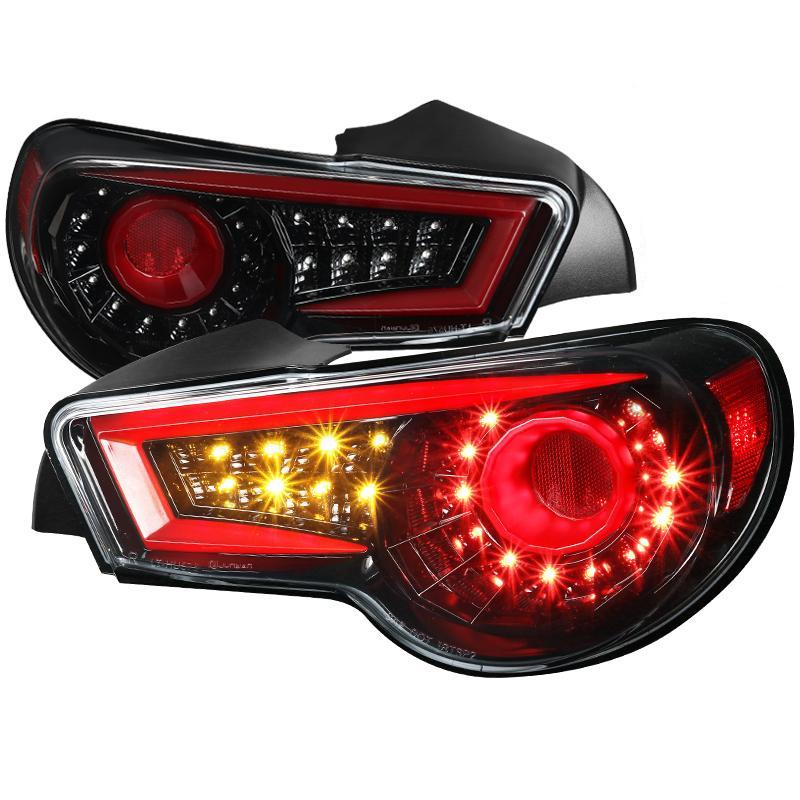 Spec D Tail Lights Frs Brz Led 2013 2016 Chrome Red