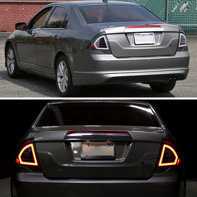 Spec-D Tail Lights Ford Fusion [LED] (2010-2011-2012) Red, Black, Chrome or Smoked