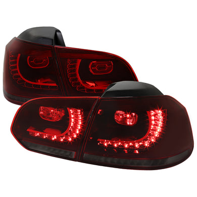 Spec-D LED Tail Lights VW Golf / GTI MK6 (2010-2014) LED Sequential Red/Smoke