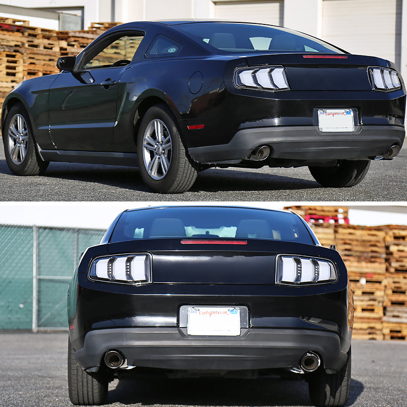 Spec D Tail Lights Ford Mustang Sequential Led 2010 2012 Black