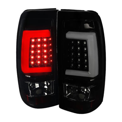 Spec-D LED Tail Lights Chevy Silverado / Sierra [C-Bar] (03-06) Black / Smoke / Red
