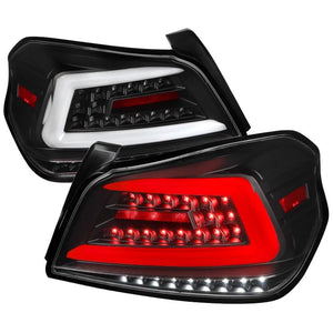 Spec-D Tail Lights Subaru WRX & STI [Sequential LED] (2015-2020) TR Style Black / Smoked / Red